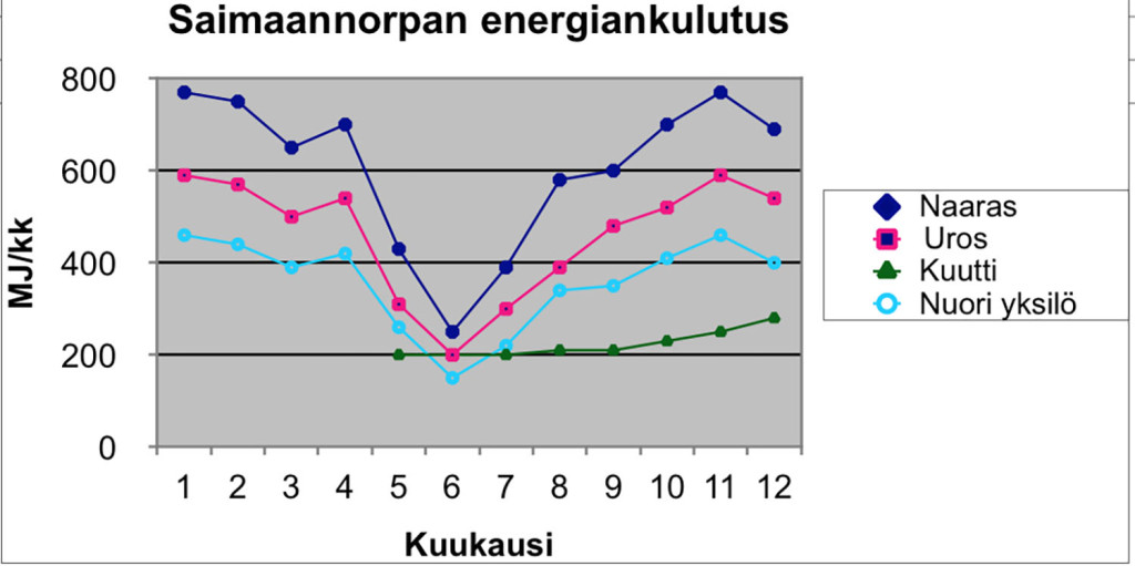Lähde: Auvinen, H., Jurvelius, J., Koskela, J. & Sipilä, T. 2005: Comparative use of vendace by humans and Saimaa ringed seal in Lake Pihlajavesi, Finland. – Biological Conservation 125 (2005) 381-389.