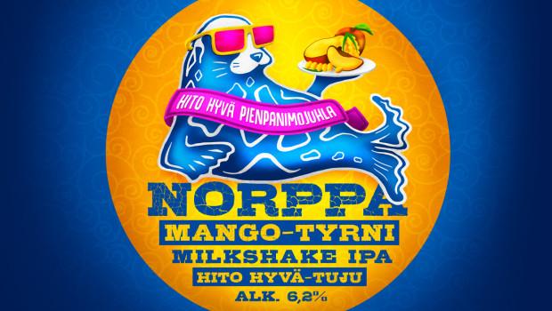 Uusi Norppa Mango-tyrni Milkshake IPA uiskentelee Pienpanimojuhlille – chillailuun kutsuu uniikki Norppa-lounge